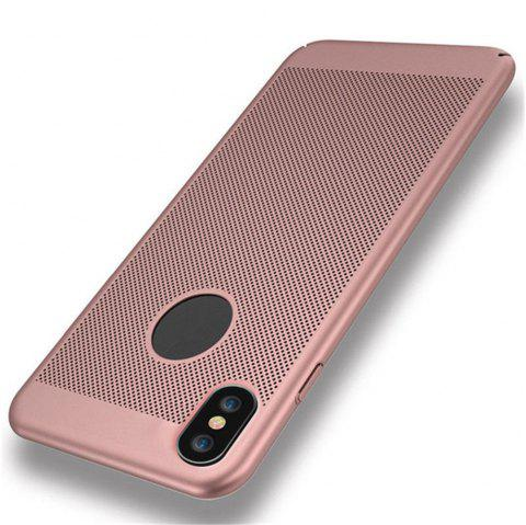 Heat Dissipation Breathable Matte Phone Case Hard Full Coverage Cover for iPhone X - ROSE GOLD