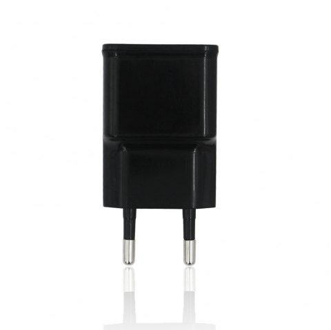 Mini Smile Universal 10W 5V 2A USB Power Supply Wall Adapter Charger - BLACK EU