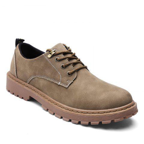 Autumn Worker Fashion Outdoor Leather Shoes - CAMEL 42
