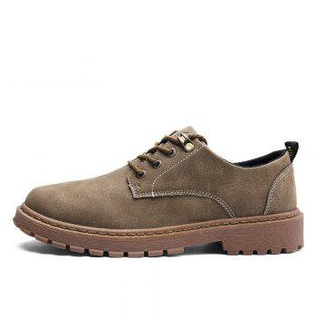 Autumn Worker Fashion Outdoor Leather Shoes - CAMEL CAMEL