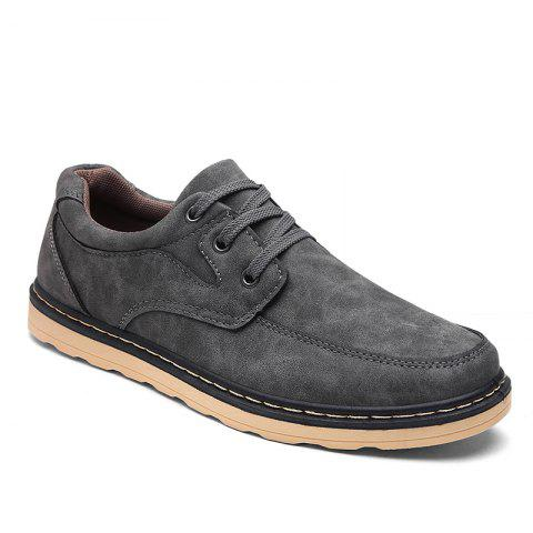 Autumn Men Fashion Leather Shoes - GRAY 42