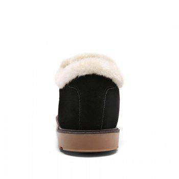 Winter Warm Leisure Cotton-Padded Boots - BLACK BLACK