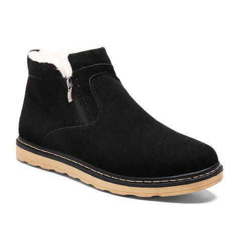 Winter Warm Casual  Cotton-Padded Boots - BLACK 44