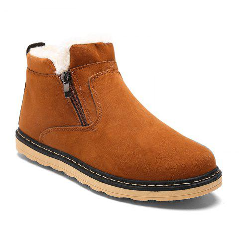 Winter Warm Casual  Cotton-Padded Boots - YELLOW 43