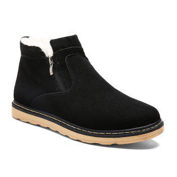 Winter Warm Casual  Cotton-Padded Boots - BLACK BLACK