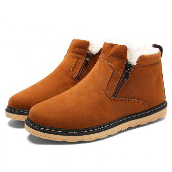 Winter Warm Casual  Cotton-Padded Boots - YELLOW YELLOW