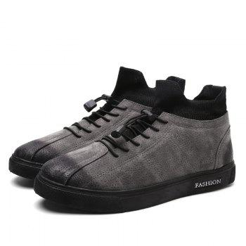 Camouflage Fashion Winter Flat Shoes - GRAY GRAY
