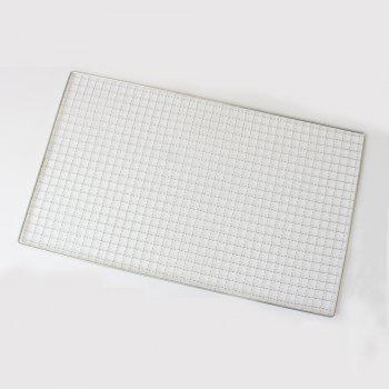 Barbecue Net Rectangle Shape Grill Baking Grid Outdoor Grilling Camping - SILVER SILVER