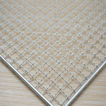 Barbecue Net Rectangle Shape Grill Baking Grid Outdoor Grilling Camping - SILVER
