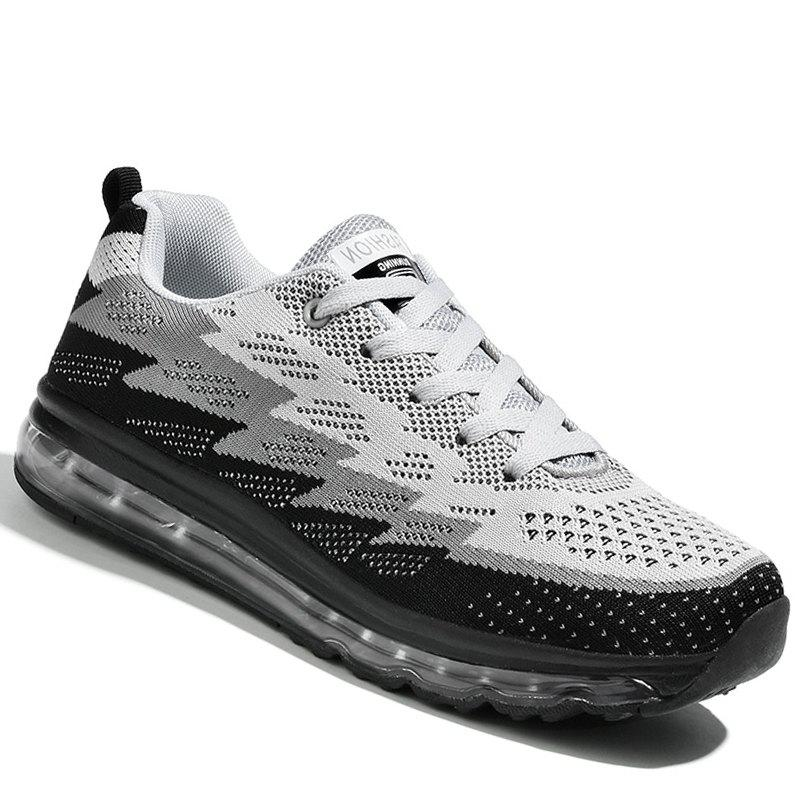 Running Femmes Chaussures Sport Couple Jogging en plein air Marcher Athletic Sneakers - GRIS FONCE 38