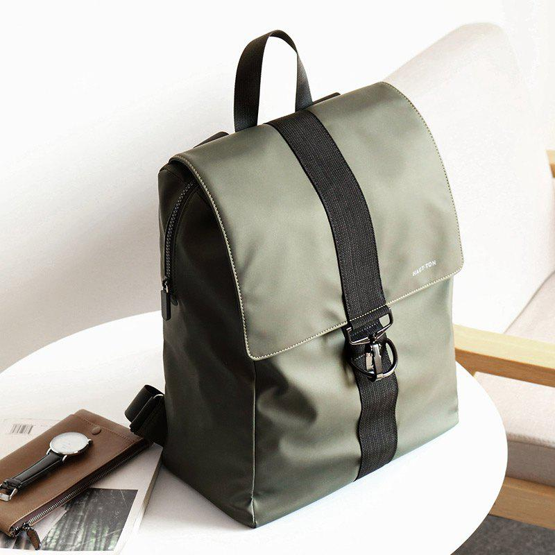 HAUT TON Outdoor Backpack Travel Hiking Camping Rucksack Pack Casual Large College School Daypack Shoulder Book Bags - ARMYGREEN 28X13X38CM