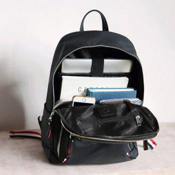 HAUT TON Waterproof Canvas Backpack Rucksack Laptop Computer Bag Daypack - BLACK 30X12X41CM