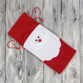 Santa Claus Bottle Decoration Bag - COLORMIX