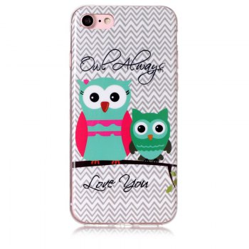 Owl Pattern Soft TPU Anti-scratch Back Cover Case for iPhone 6 - MULTICOLOR multicolorCOLOR