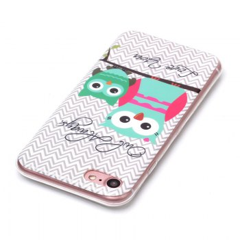Owl Pattern Soft TPU Anti-scratch Back Cover Case for iPhone 6 -  multicolorCOLOR