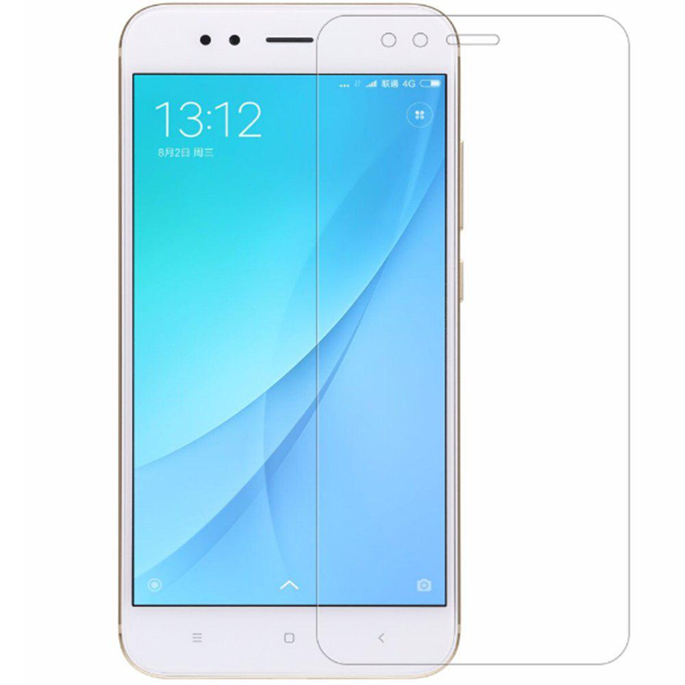 2Pcs Naxtop Tempered Glass Screen Protector for Xiaomi Mi A1 -Transparent - TRANSPARENT