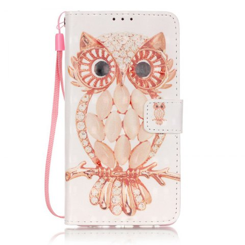 Wkae Three Dimensional Color Pattern Leather Case for Huawei P9 Lite - GOLDEN