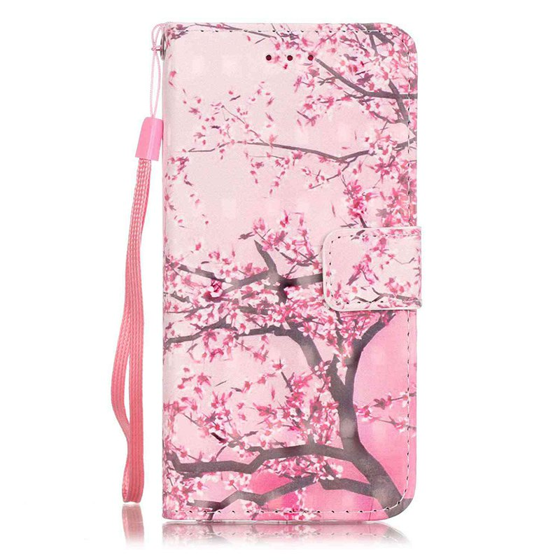 Wkae Three Dimensional Color Pattern Leather Case for IPhone 7 / 8 - PINK