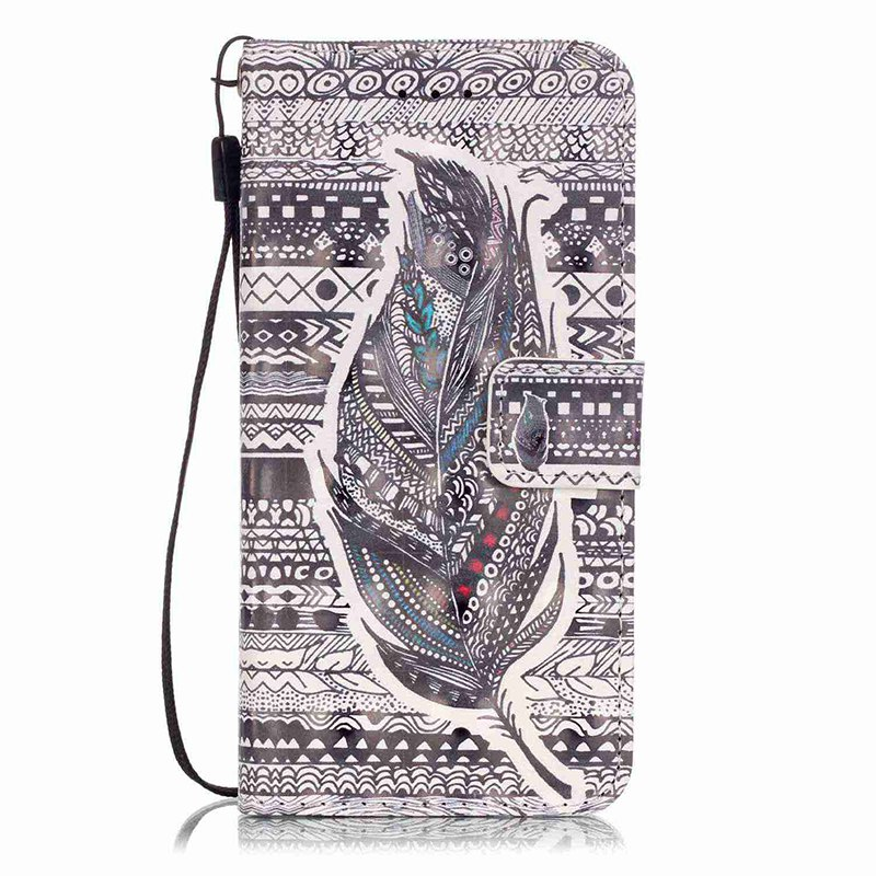 Wkae Three Dimensional Color Pattern Leather Case for IPhone 7 / 8 - GRAY