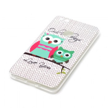 Owl Pattern Soft TPU Anti-scratch Back Cover Case for Huawei P10 Lite - multicolorCOLOR