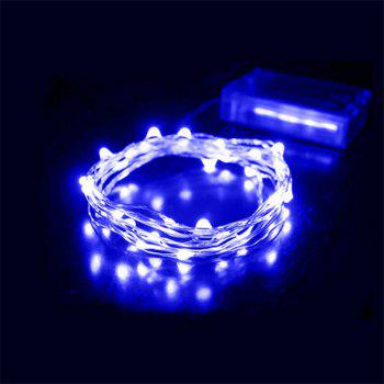 30 - LED Lights Battery Powered Copper Wire String Lights Home Decoration - BLUE LIGHT