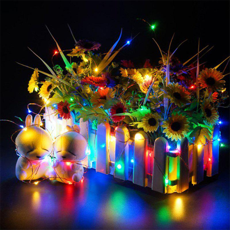 30 - LED Lights Battery Powered Copper Wire String Lights Home Decoration - COLORFUL