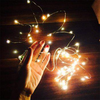 5M 50 - LED Lights Battery Powered Copper Wire String Lights Home Decoration - WARM WHITE LIGHT WARM WHITE LIGHT