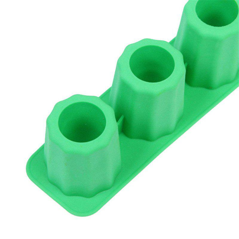 Cup Shape Ice Tray Silicone Mold - GREEN