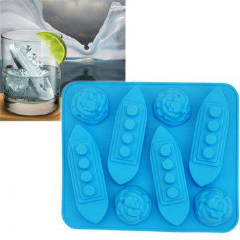 Ship Shape Ice Tray Silicone Mold - BLUE