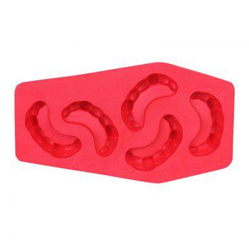 Teeth Shape Ice Tray Silicone Mold - RED