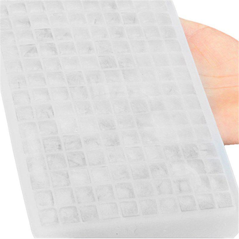 160 Small Grids Shape Ice Tray Silicone Mold - WHITE