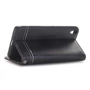 Truck Suction Line Card Lanyard Pu Leather Cover for Sony XA - BLACK