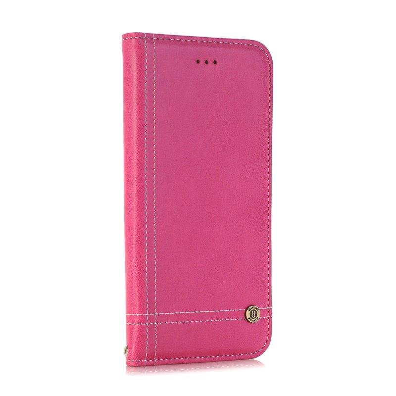 Truck Suction Line Card Lanyard Pu Leather Cover for Sony XA - ROSE RED