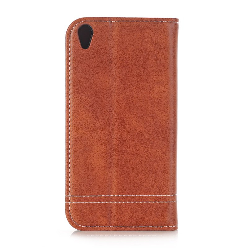Truck Suction Line Card Lanyard Pu Leather Cover for Sony XA - BROWN