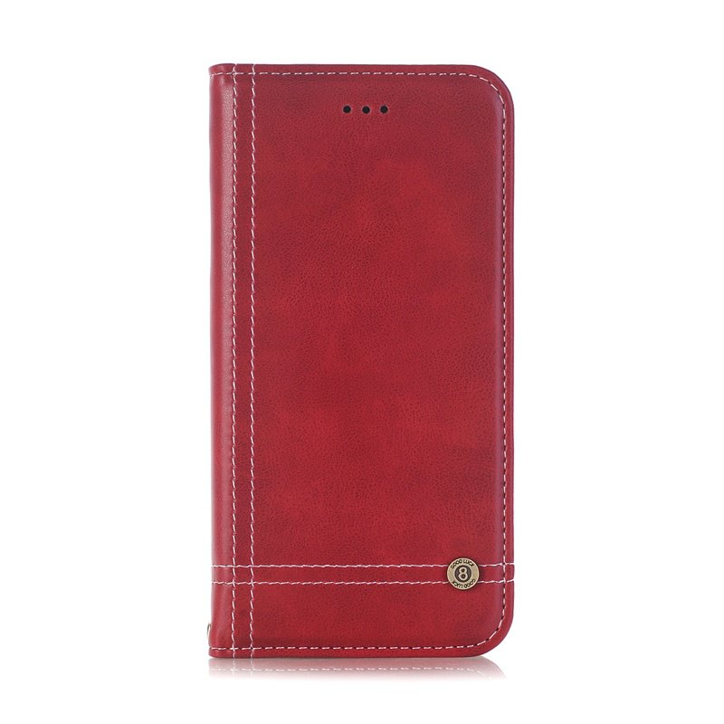 Truck Suction Line Card Lanyard Pu Leather Cover for Sony XZ - RED