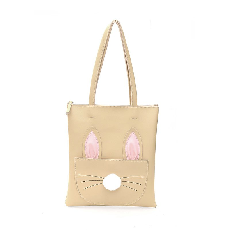 Sac à bandoulière grand sac à main simple PU Shopping CY489 - Kaki