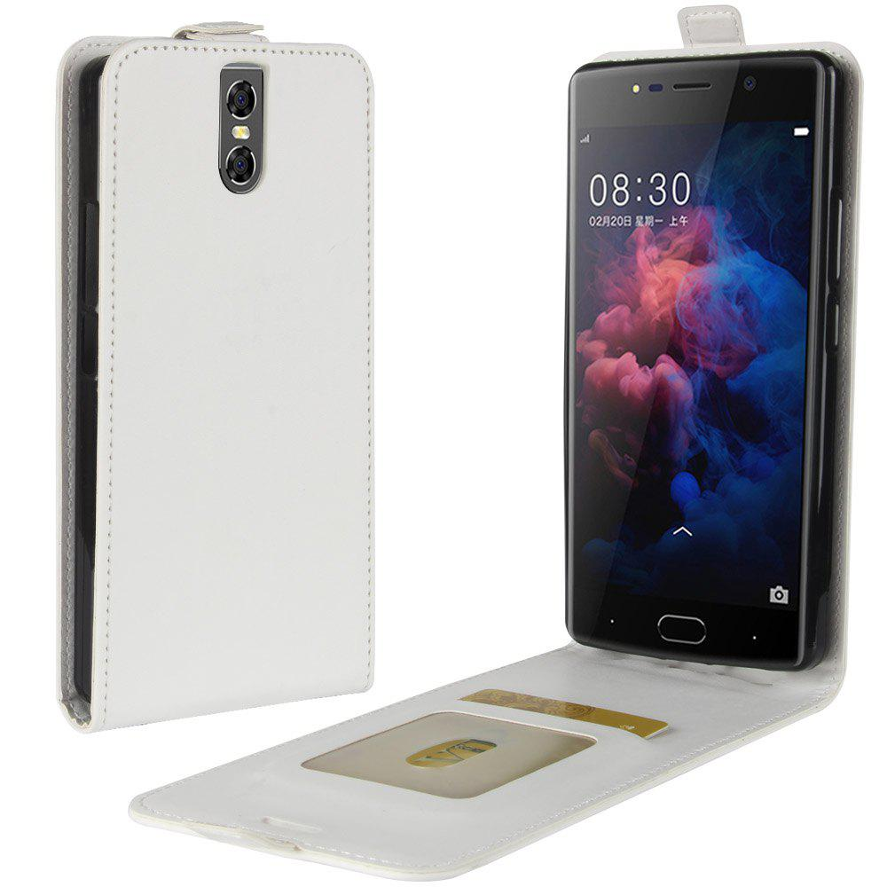 Durable Crazy Horse Pattern Up and Down Style Flip Buckle PU Leather Case for Doogee BL7000 - WHITE
