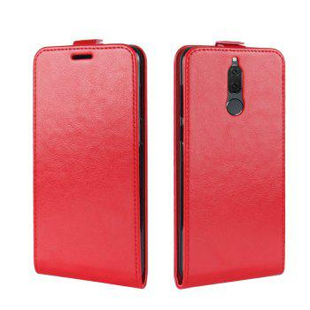 Durable Crazy Horse Pattern Up and Down Style Flip Buckle PU Leather Case for Huawei G10 - RED