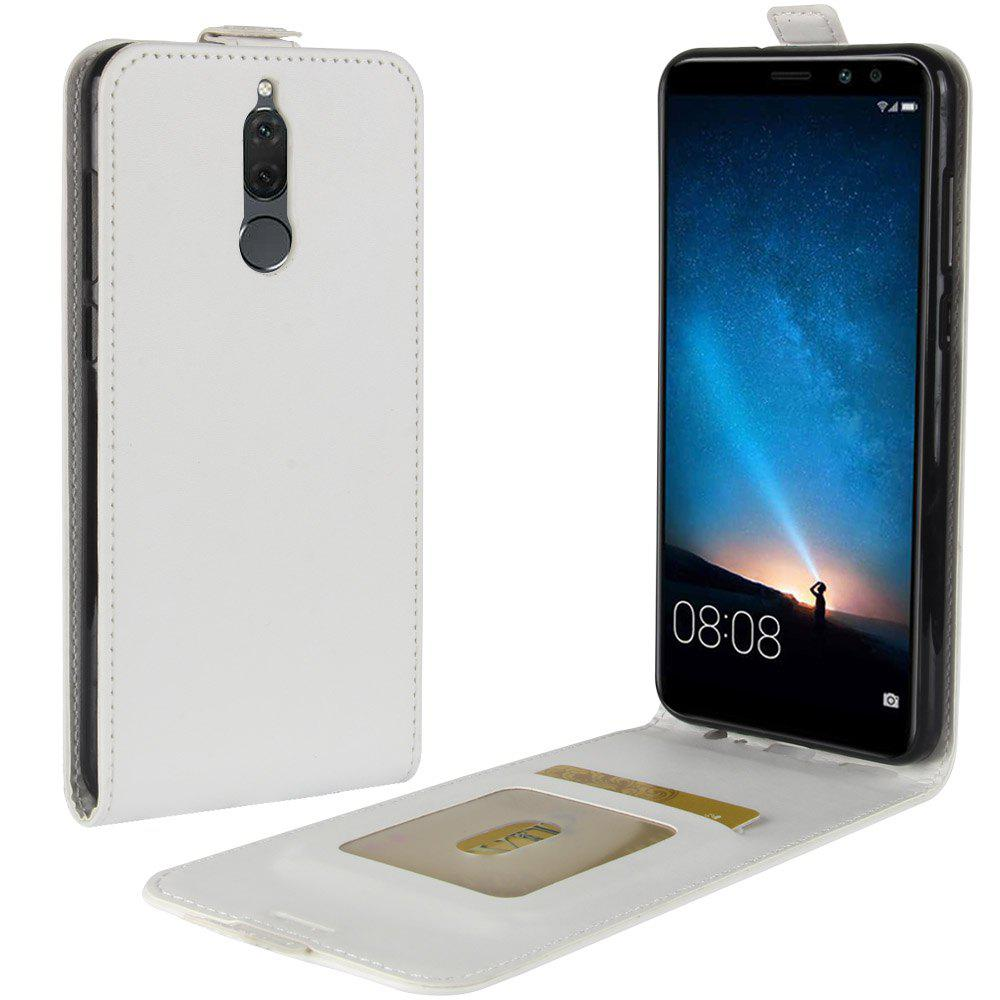 Durable Crazy Horse Pattern Up and Down Style Flip Buckle PU Leather Case for Huawei G10 - WHITE