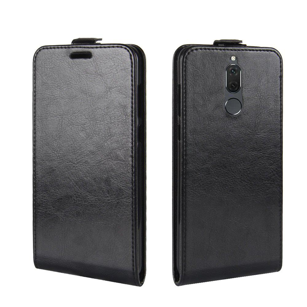 Durable Crazy Horse Pattern Up and Down Style Flip Buckle PU Leather Case for Huawei G10 - BLACK