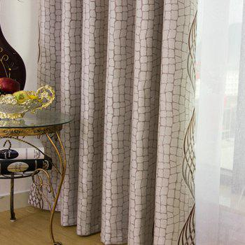European Simple Style Jacquard Living Room Bedroom Dining Room Curtain Set - COFFEE 2X(42W×63L)