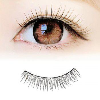 100 Pairs Makeup Daily Life Pure Handmade Black Natural Long False Eyelash Suit - BLACK