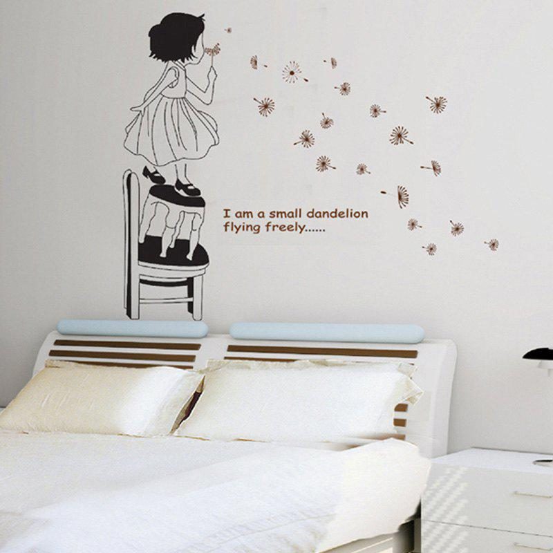 DSU Beautiful Dandelion Girl Decorative Wall Sticker beautiful darkness