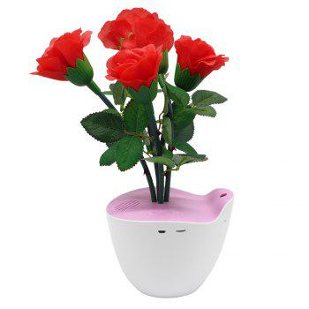 D Bengo Smart Music Flowers Art with Motion Pot for Home Decoration - RED RED
