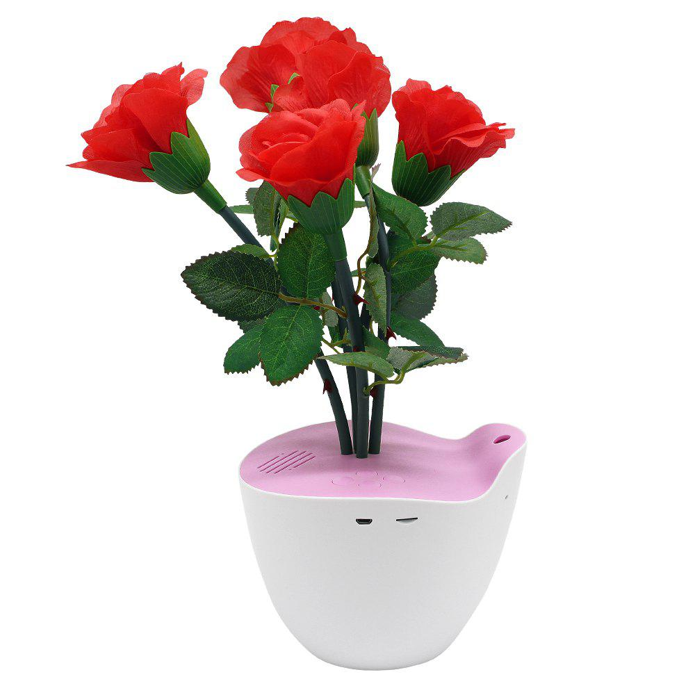 D Bengo Smart Music Flowers Art with Motion Pot for Home Decoration - RED