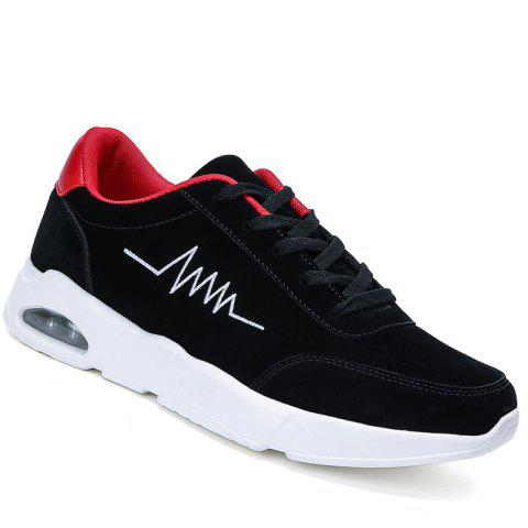 Athletic Breathable Cushion Men Running Shoes Sport Outdoor Jogging Walking Sneakers - BLACK/RED 44