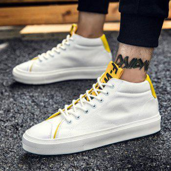 High Top Athletic Breathable Men Running Shoes Sport Outdoor Jogging Walking Sneakers - WHITE 39