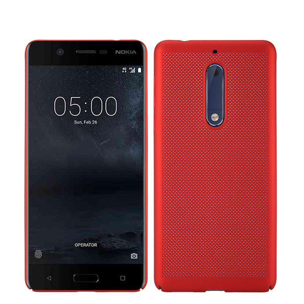 Heat Dissipation Ultra-thin Frosted Back Cover Solid Color Hard PC Case for Nokia 5 - RED