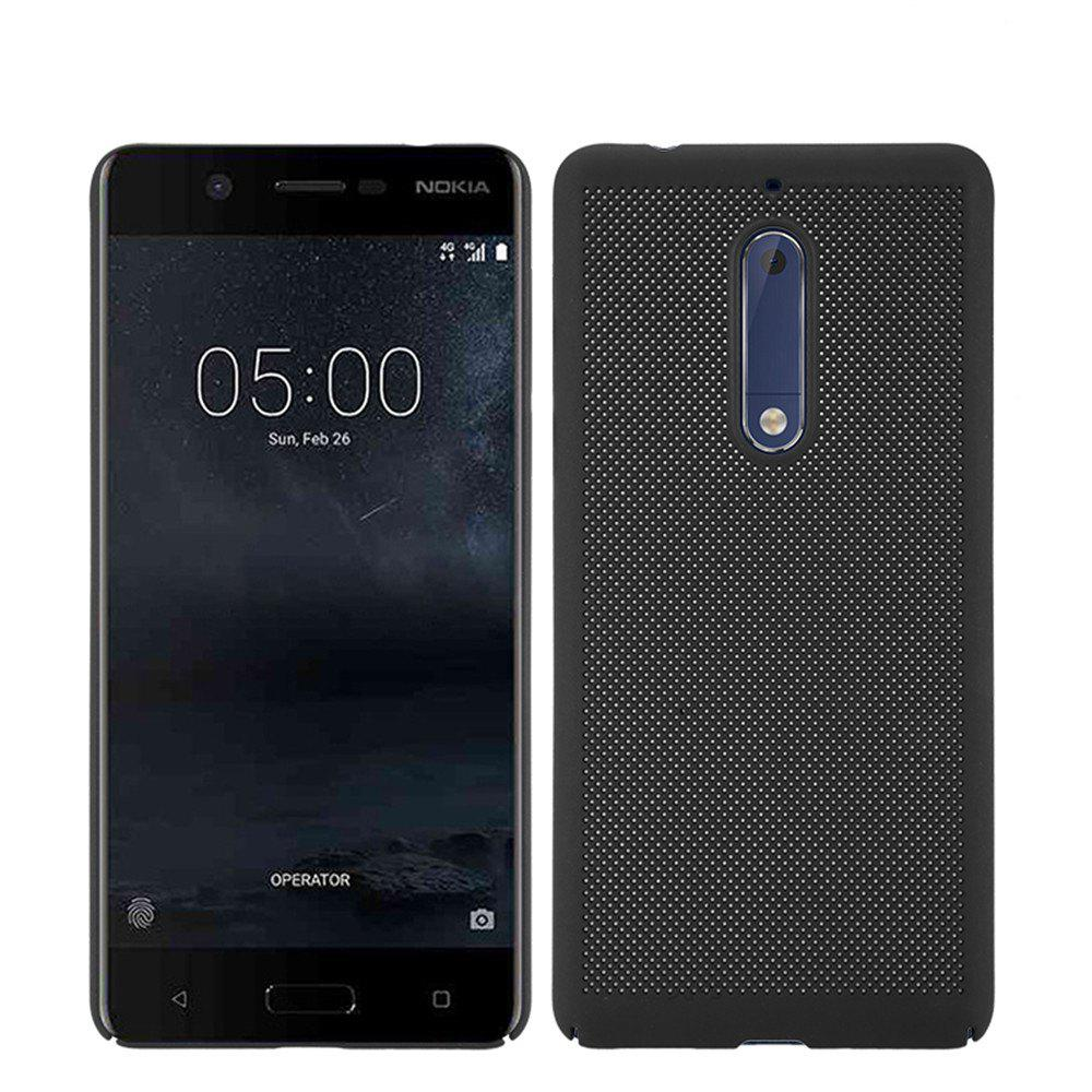 Heat Dissipation Ultra-thin Frosted Back Cover Solid Color Hard PC Case for Nokia 5 - BLACK