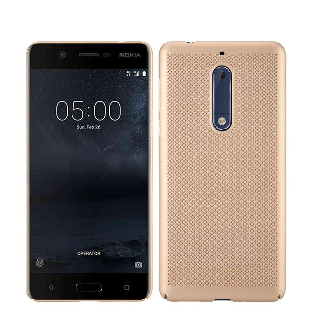 Heat Dissipation Ultra-thin Frosted Back Cover Solid Color Hard PC Case for Nokia 5 - GOLDEN